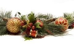 Schöne Weihnachtsverzierungen Stockbilder