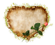 Schöne Weinlese-stilisiert Valentinsgruß-Karte Lizenzfreie Stockfotos