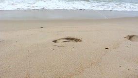 Schöne Welle auf Strand stock video footage