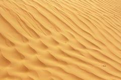 Schöne Wellenmuster fanden in einer Sanddüne in der Wüste Sand lizenzfreie stockfotos