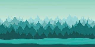 Schöne Winter-Landschafts2d Spielanwendung lizenzfreie stockfotografie