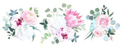 Schöne Winterhochzeitsblumen Abbildung in der japanischen Art lizenzfreie abbildung