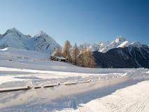 Schöne Winterlandschaft in den Bergen Stockfotos