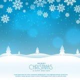Schöne Winterlandschaftsszene für Weihnachtsfestival Stockfotos