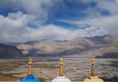Schöne Wintersaison in Leh Ladakh, Indien stockbild