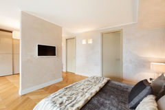 Schöne Wohnung versorgt Stockfoto