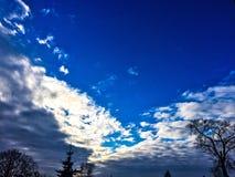 Schöne Wolken Stockfoto