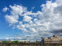 Schöne Wolkenanordnung stockfotos
