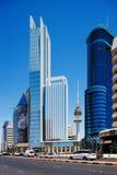 Schöne Wolkenkratzer des Kuwait City Lizenzfreies Stockfoto