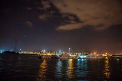 Schöne Xiamen-Stadt nachts Stockfotos