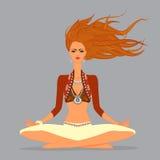 Schöne Yoga-Mädchen-Illustration Stockfotografie