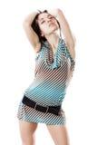 Schöne Yong-Frau im kurzen Kleid Stockfotos
