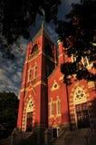 Schöne Ziegelstein-Kirche Stockbild