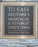 Abraham Lincoln-Zitat Stockfotos