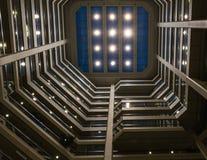 Schöne Zusammenfassung eines modernen Gebäudes in einer Großstadt Stockfotografie