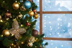 Schöne Zusammensetzung des neuen Jahres Stockbilder