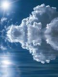 Schöner abstrakter cloudscape Hintergrund Lizenzfreie Stockfotos