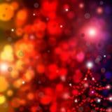 Schöner abstrakter Hintergrund der Feiertagsleuchten Lizenzfreies Stockfoto