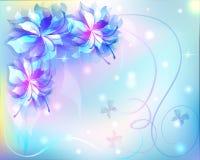 Schöner abstrakter Hintergrund mit Blumen Stockfotos