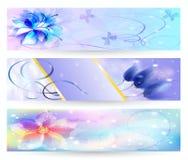 Schöner abstrakter Hintergrund mit Blumenfahne Stockbild