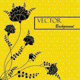 Schöner abstrakter Hintergrund mit schwarzen Blumen Stockfotos