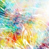 Schöner abstrakter Hintergrund mit Sprays der weißen Farbe Bunte grunge Beschaffenheit Weiße Kurven Verzerrte Linien lizenzfreies stockfoto
