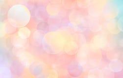 Schöner abstrakter rosa Hintergrund der Lichterkette Stockbilder