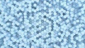Schöner abstrakter sechseckiger Hintergrund, nahtlose Schleifungsanimation 3d 4K stock abbildung