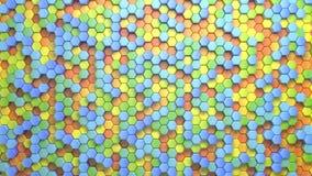 Schöner abstrakter sechseckiger mehrfarbiger Hintergrund, nahtlose Schleifungs3d Animation, 4k suchen Sie nach mehr Wahlen in mei vektor abbildung