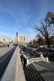 Schöner Alexander Garden nahe dem alten der Kreml-Winter, Moskau, Russland Lizenzfreie Stockfotos