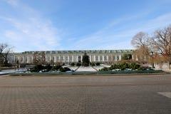 Schöner Alexander Garden nahe dem alten der Kreml-Winter, Moskau, Russland Lizenzfreies Stockfoto