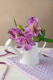 Schöner Alstroemeria auf dem Tisch Stockfotografie