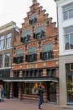 Schöner Altbau auf Kruisstraat-Straße Lizenzfreies Stockbild