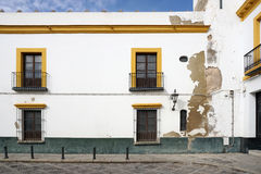Schöner Altbau in der alten Stadt von Spanien Lizenzfreies Stockbild