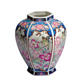Schöner antiker dekorativer Vase stockfotografie