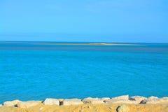 Schöner arabischer Seestrand, Saudi-Arabien stockbilder