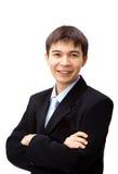 Schöner asiatischer Geschäftsmann Stockbild