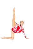 Schöner asiatischer Mädchen Gymnast mit einer Kugel Stockfotos