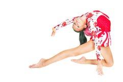 Schöner asiatischer Mädchen Gymnast mit einer Kugel Lizenzfreie Stockbilder