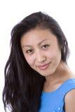 Schöner asiatischer vorbildlicher Hauptschuß Stockfoto