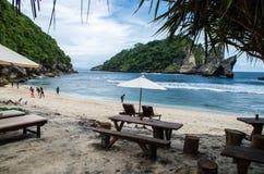Schöner Atuh-Strand auf Nusa Penida, Bali Stockfoto
