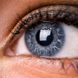 Schöner Augenabschluß oben Stockfoto