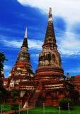 Schöner Ayutthaya-Tempel Stockfotografie