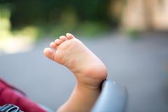Schöner Babyfuß, Zehen Lizenzfreies Stockbild