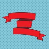 Schöner Band-Aufkleber im Knall Art Style Vector Illustration Stockbild