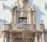 Schöner barocker Balkon Marques de la Gomera Palaces in Osuna Herzogliche Stadt erklärte einen Historisch-künstlerischen Standort lizenzfreies stockfoto