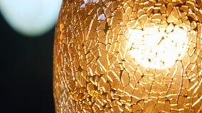 Schöner Beleuchtungs-Dekor, Abschluss oben stock video