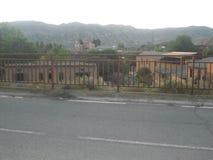 Schöner Bergblick, Dorfansicht, Dorf in den Bergen, Spanien-Mountain View, erstaunliche Ansichten, schönes Spanien Stockfotos