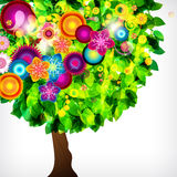 Schöner Blütenbaum. Stockbild
