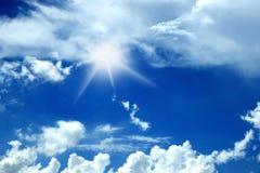 Schöner blauer Himmel Stockfotografie